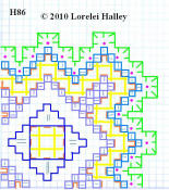 Hardanger H 86: each square = 4x4 threads of fabric.