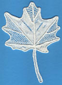 needle lace maple leaf