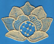 needle lace flower - pattern from Nenia Lovesey