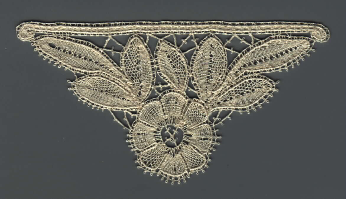 F2 Floral Part Lace . $3.99 Use Honiton or Duchesse working methods.